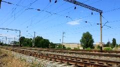 Green locomotive Stock Footage