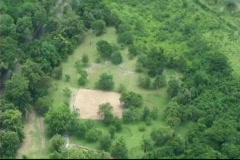 Tibes Indian Ceremonial Park Helicopter View Stock Footage