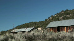 Abandoned ranch ,old west Stock Footage