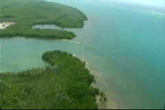 Helicopter Aerial Views of Caribbean Coast Stock Footage