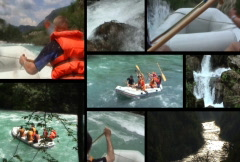 Rafting splitscreen ntsc - stock footage