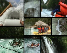 Rafting splitscreen pal - stock footage