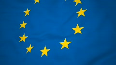 High-definition 3d render Flag of EU - stock footage