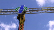Scary high fairground ride Stock Footage