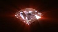 Stock Video Footage of Spinning and shining red diamond - looped 3d animation