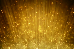 Loopable motion background rising gold particles Stock Footage