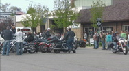 Stock Video Footage of motorcycle gathering in street 2