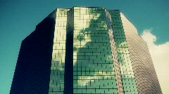 Time Lapse of Reflection of Clouds off a Building - Clip 1 Stock Footage