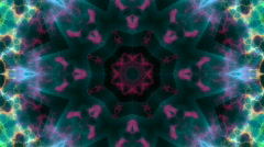 Blue-Purple Kaleidoscope Background. Loopable HD - stock footage
