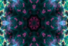 Blue-Purple Kaleidoscope Background. Loopable NTSC Stock Footage