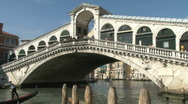 Stock Video Footage of Rialto Bridge over Grand Canal in Venice, Italy