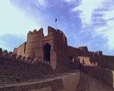 Kot Diji Fort and Village Stock Footage