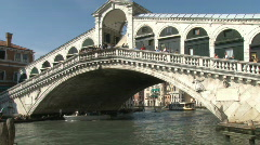 Rialto Bridge over Grand Canal in Venice, Italy - stock footage