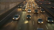 Time Lapse of Los Angeles Freeway Traffic - Clip 3 Stock Footage