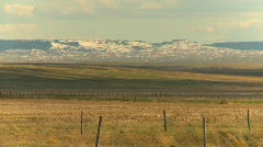 Cypress hills with late spring snow and heat ripples Stock Footage
