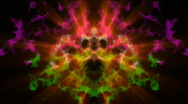 Stock Video Footage of Colorful Rorschach Test. Loopable. HD
