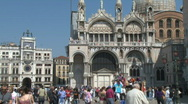 San Marco St. Mark's Square in Venice Stock Footage