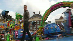 Funfair polyp ride Stock Footage
