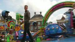 Funfair polyp ride - stock footage