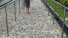 Pebble walking trail Stock Footage