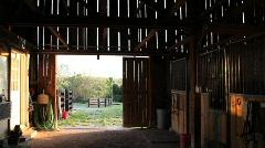 inside barn 1 - stock footage