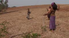 Ethiopian Girls Skip Stock Footage