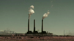 Power Plant Smoke Stack - Time Lapse - Clip 1 Stock Footage