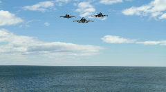 Three F18 Hornets (overhead) Stock Footage