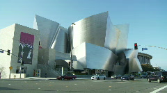 Time Lapse of Disney Concert Hall in Los Angeles Stock Footage