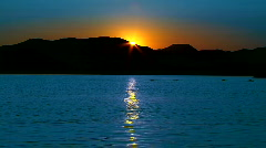 Beautiful Sunset at Sea Stock Footage