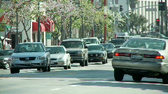 Los Angeles Chinatown Traffic Time Lapse - Clip 3 Stock Footage