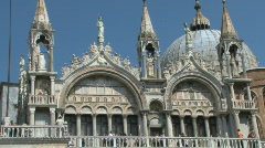Basillica in San Marco Saint Mark's Square in Venice, Italy Stock Footage