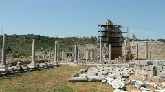 The Ruins of Perga - stock footage