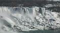 Niagara Falls During Winter Cold Footage