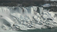 Niagara Falls During Winter Cold Stock Footage