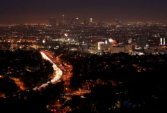Freeway Time-Lapse LA 01 NTSC - stock footage