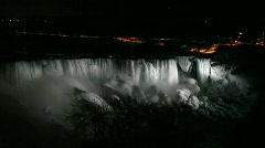 Niagara Falls at Night Arkistovideo