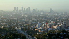 Stock Video Footage of LA Morning Haze 01 HD