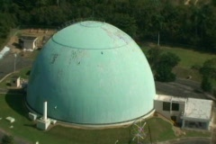 Aerial - Cold War Era Nuclear Power Research Reactor - Bonus Reactor in Rincon 2 - stock footage