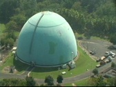 Stock Video Footage of Aerial - Cold War Era Nuclear Power Research Reactor - Bonus Reactor in Rincon 1
