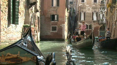 On a Romantic Venetian Gondola in Venice, Italy in Europe - stock footage