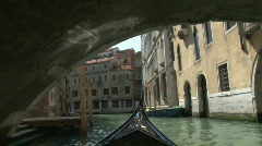 On a Romantic Venetian Gondola in Venice, Italy in Europe Stock Footage