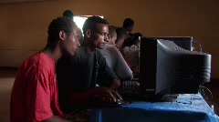Ethiopia:Highschool Ethiopian Students in the Computer Lab  Stock Footage