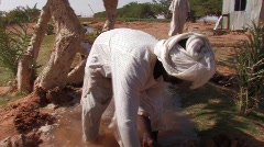 Sudan: Irrigation in Sudan - stock footage