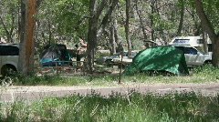 Tent camping Stock Footage