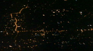 Aerial of Antalya by night Stock Footage