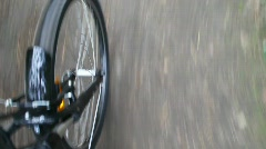 Rotating wheel of bicycle Stock Footage