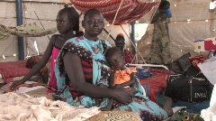 Sudan: Refugee Camps - stock footage