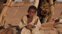 Sudan: Face of Young Boy - stock footage