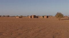 Sudan:Houses in the Desert Community Stock Footage